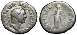 "Ancient Coins - Vespasian AR Denarius ""Pax Holding Caduceus"" Rome 70 AD RIC 27"