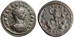 """Ancient Coins - Aurelian Silvered Antoninianus """"SOLI INVICTO Sol, Captives"""" Ticinum RIC 154 Rare"""