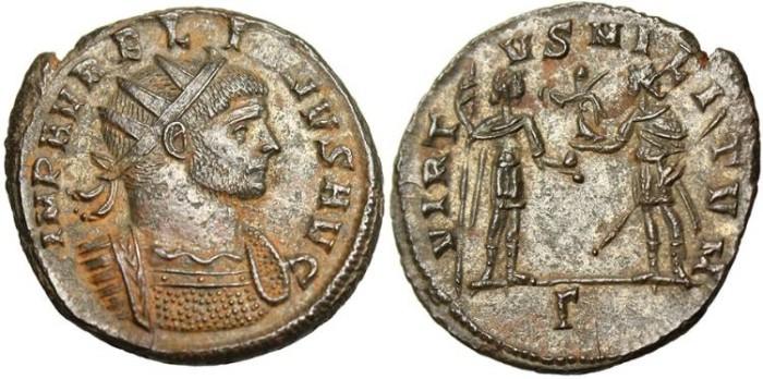 "Ancient Coins - Aurelian, AE Ant. ""VIRTVS MILITVM"" Balkan mint RIC 407 Rare Mint State"
