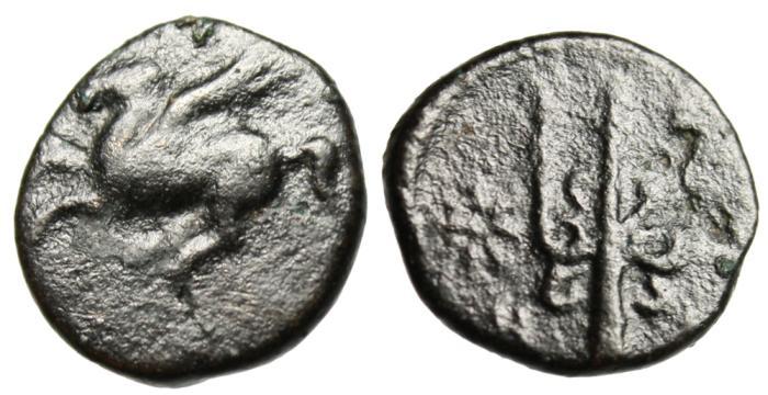 """Ancient Coins - Corinthia Corinth AE13 """"Pegasus & Trident"""" 4th Century BC BMC 443"""