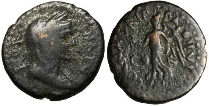 "Ancient Coins - Corinthia, Corinth ""Bust of Senate & Nike"" Time of Galba 68-69 AD Rare Ex. Clyde Pharr"