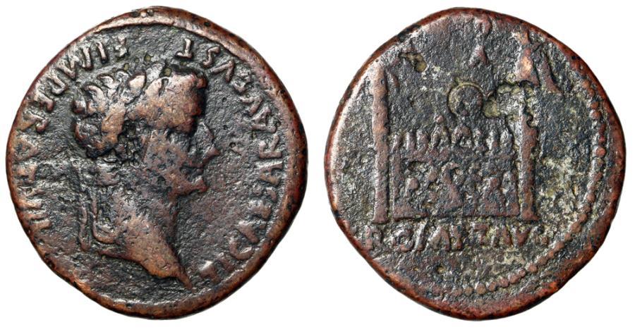 Tiberius, as Caesar, Ć Sestertius. Lugdunum mint, struck 8