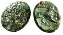 """Ancient Coins - Sicily, Messana AE Litra """"Herakles & Lion, Club & Torch"""" 278-276 BC Scarce"""