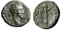 "Ancient Coins - Antoninus Pius AE19 ""Nike With Wreath & Palm"" Caria Antioch ad Meandrum Scarce"