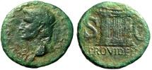 """Ancient Coins - Augustus Posthumous AE Dupondius """"PROVIDENT Altar"""" Rome Under Tiberius"""