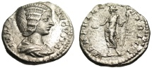 "Ancient Coins - Julia Domna Silver Denarius ""VENERI GENETRICI Venus"" RIC 578 Scarce gVF"