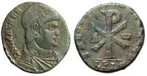 "Ancient Coins - Magnentius Double Centenionalis ""Chi-Rho Christogram, Alpha & Omega"" RIC 154 gVF"