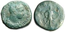 "Ancient Coins - Severus Alexander AE Sestertius ""MARS VLTOR Mars With Spear & Shield"" RIC 635"