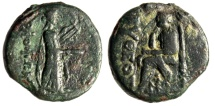 """Ancient Coins - Ionia, Kolophon AE19 """"Apollo, Lyre & Homer Seated, Book"""" Pytheos Magistrate"""