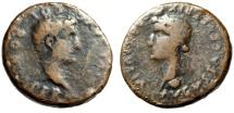 """Ancient Coins - Augustus AE33 """"Livia, Julia Augusta"""" Spain, Colonia Romula Under Tiberius"""