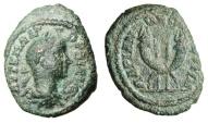 "Ancient Coins - Gordian III AE18 ""Two Crossed Cornucopiae & Two Standards"" Thrace, Hadrianopolis Rare"