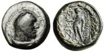 """Ancient Coins - Lydia Sardes (Sardis) AE18 """"Herakles & Apollo"""""""