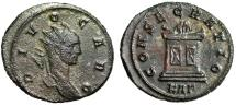 "Ancient Coins - Divus Carus AE Antoninianus ""CONSECRATIO Flaming Decorated Altar"" Rome Scarce"