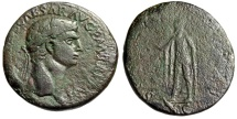 "Ancient Coins - Claudius I AE Sestertius ""SPES AVGVSTA Spes Walking"" Rome 41-42 AD RIC 99"