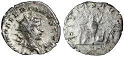 "Ancient Coins - Saloninus AR Antoninianus ""PIETAS AVG Sacrificial Implements"" Nice Portrait"
