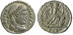 "Ancient Coins - Constantine I The Great ""SARMATIA DEVICTA Victory, Captive"" Trier RIC 435 gVF"