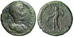 "Ancient Coins - Macrinus AE26 ""Dioynsos Holding Bunch of Grapes, Thyrsos"" Moesia Nicopolis"