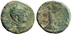 "Ancient Coins - Domitian AE21 of Caesarea Maritima, Judea ""Nike"" King Agrippa II 83/4 CE"