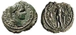 "Ancient Coins - Caracalla AE19 ""Hermes, Purse & Caduceus"" Thrace, Augusta Traiana EF"