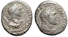 "Ancient Coins - Trajan AR Tetradrachm ""Bust on Eagle, Club & Hercules-Melqart"" Antioch aVF"