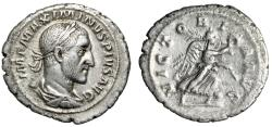 "Ancient Coins - Maximinus I Thrax AR Denarius ""Victory Running"" Rome 235-236 AD RIC 16 VF"