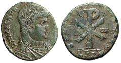 """Ancient Coins - Magnentius Double Centenionalis """"Chi-Rho Christogram, Alpha & Omega"""" RIC 154 gVF"""