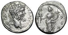 "Ancient Coins - Septimius Severus AR Denarius ""LIBER AVG Liberalitas"" Emesa RIC 398 gVF"