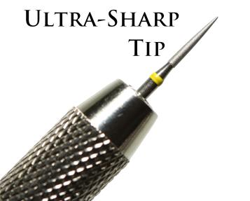 Ancient Coins - Ultra Sharp Diamond Coated Pin + Double Ended Vice For Cleaning & Restoring Coins