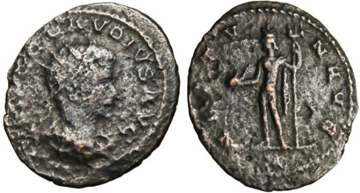 "Ancient Coins - Claudius II AE Ant. ""Neptune With Dolphin"" Antioch RIC 214"