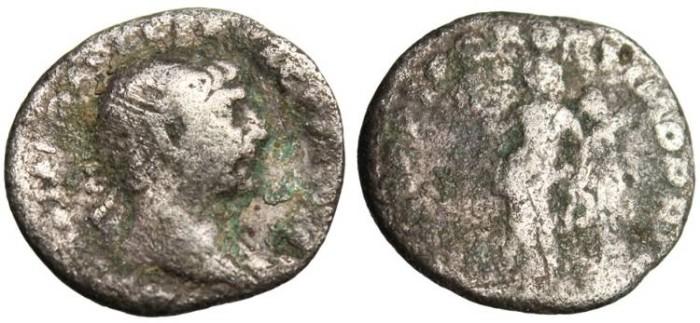 "Ancient Coins - Trajan Silver Denarius ""Victory"" Rome RIC 282"