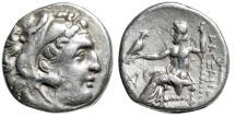 "Ancient Coins - Alexander III The Great AR Drachm ""Herakles & Zeus, Kerykeion"" Abydos VF"