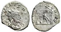 "Ancient Coins - Valerian AR Antoninianus ""DEO VOLKANO Vulcan in Temple With Hammer"" Good VF"
