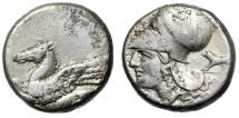 "Ancient Coins - Corinthia, Corinth AR Stater ""Pegasus & Helmeted Athena, Boar"" About VF"
