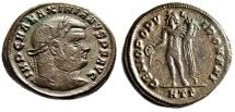 "Ancient Coins - Maximian (Maximianus Herculius) AE Follis ""Genius"" Heraclea Mint RIC 18b VF"