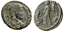 "Ancient Coins - Magnus Maximus AE2 ""REPARATIO REIPVB Kneeling Republic"" Arles RIC 26a Good VF"