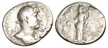 """Ancient Coins - Hadrian Silver Denarius """"Aequitas Holding Scales"""" Rome RIC 80"""