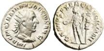 """Ancient Coins - Trajan Decius Silver Antoninianus """"GENIVS EXERC ILLVRICIANI Genius"""" RIC 16 gVF"""