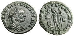 "Ancient Coins - Licinius I AE Follis ""IOVI CONSERVATORI AVGG NN Jupiter"" Siscia RIC 233b gVF"