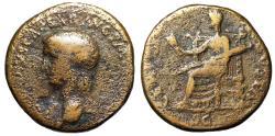"Ancient Coins - Claudius I AE Dupondius ""CERES AVGVSTA Ceres, Long Torch"" Rome 41-42 AD Scarce"
