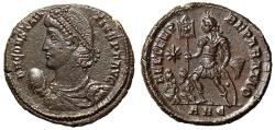 """Ancient Coins - Constantius II Centenionalis """"Cross Standard, Two Captives"""" Antioch RIC 127 EF"""