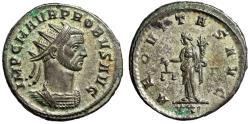 """Ancient Coins - Probus Silvered Antoninianus """"AEQVITAS AVG Aequitas"""" Rome RIC 150 Good VF"""