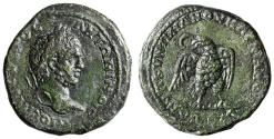 """Ancient Coins - Caracalla AE27 of Markianopolis, Moesia """"Eagle Standing on Thunderbolt"""" gVF"""