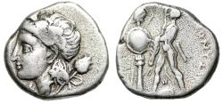 """Ancient Coins - Bithynia, Heraclea Pontica AR Stater Dionysos, Tyrant """"Herakles Erecting Trophy"""""""