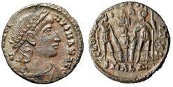 "Ancient Coins - Constantine II AE15 ""GLORIA EXERCITVS Soldiers, S-R"" Alexandria RIC 5 Good VF"