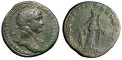 """Ancient Coins - Trajan AE Sestertius """"ALIM ITAL Emperor's Generosity"""" Rome 103-111 AD RIC 459"""