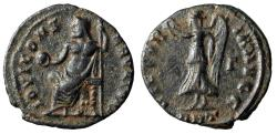 "Ancient Coins - Roman Christian Persecution Issue ""Jupiter Seated & Victory"" Antioch gVF"