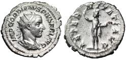 "Ancient Coins - Gordian III AR Antoninianus ""AETERNITATI AVG Sol, Globe"" Antioch RIC 83 VF"