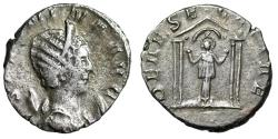 "Ancient Coins - Salonina AR Antoninianus ""DEAE SEGETIAE Goddess, Raised Hands in Temple"" Scarce"
