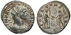 "Ancient Coins - Aurelian Silvered Antoninianus ""IOVI CONSER Jupiter & Emperor"" Rome RIC 48 gVF"