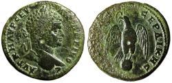 "Ancient Coins - Caracalla AE30 ""Eagle, Wings Spread Atop Globe"" Thrace, Serdica Beautiful Patina"